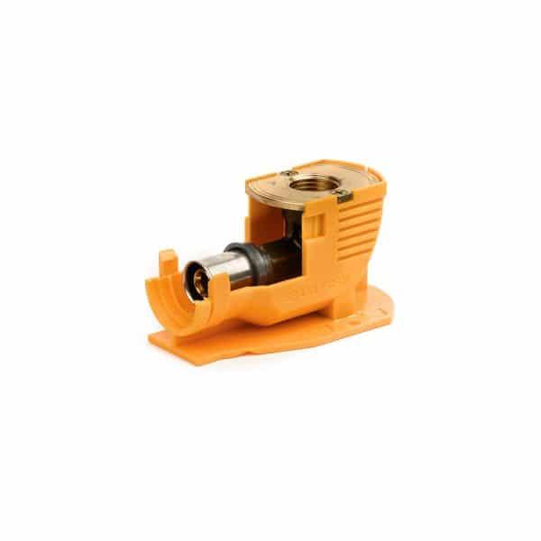 Γωνία Πλαστική Υδροληψίας + Γωνία Press Φ16x1/2 Θ.