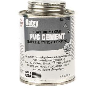 Κόλλα PVC OATEY Γκρι Βαρέως Τύπου