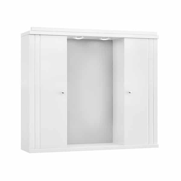 Καθρέπτης Ξύλινος Διπλός Λευκός 65x15x48 Drop