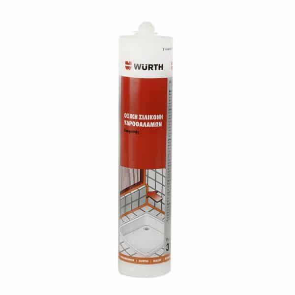 Σιλικόνη Αντιμουχλική Υδροθαλάμων Υψηλής Ποιότ. Διάφανη Würth