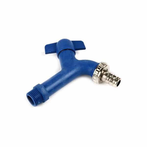 Κάνουλα Σφαιρική Αντιπαγωτική Πλαστική 1/2 Μπλε Ιταλία