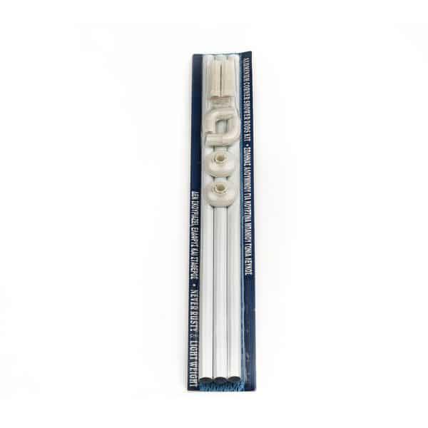 Βέργα Κουρτίνας Μπανιέρας Ν2 80x180 Λευκή