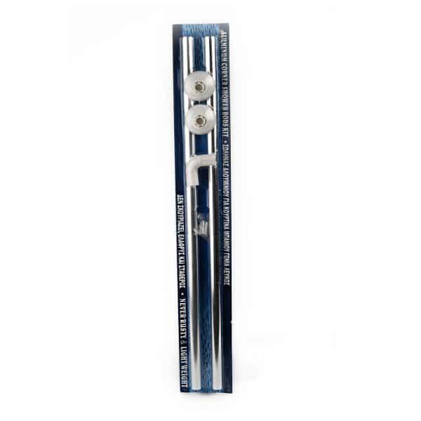 Βέργα Κουρτίνας Ντουζιέρας Ν1 80x80 Χρωμέ